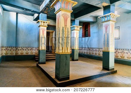 Decoration Of Egyptian House In Atlas Corporation Studios. Ouarzazate