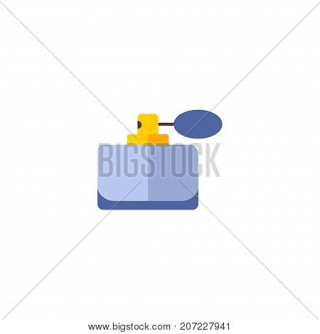 Flat Icon Perfumery Element. Vector Illustration Of Flat Icon Aroma Isolated On Clean Background
