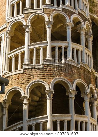 Bovolo Staircase or Scala Contarini del Bovolo, is the tallest spiral staircase of Venice, builded in late 1400