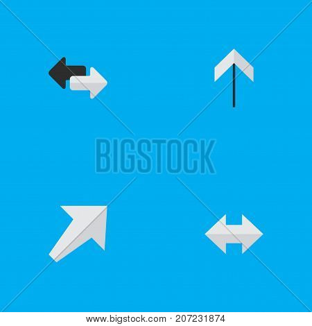 Elements Up, Everyway, Southwestward And Other Synonyms Up, Arrow And Export.  Vector Illustration Set Of Simple Indicator Icons.