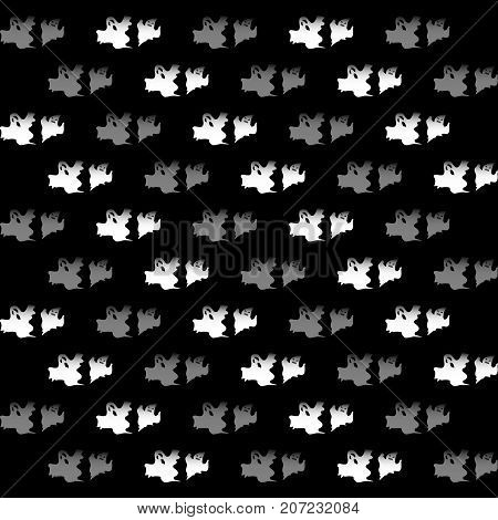 Created Halloween ghost pattern background stock vector