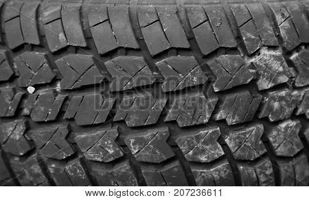 Background of the tire tread . Photo of abstract background