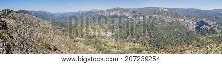 Puerto de las palomas viewpoint in Sierra de Cazorla Jaen Spain