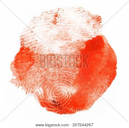 red fingerprint. macro . Photo of abstract background