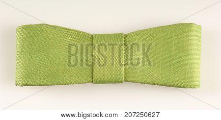 Linen Tie On White Background