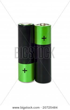 Two Aa Batteries Standing