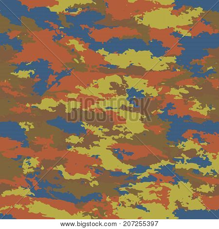 Camouflage military retro background. Camouflage background - vector illustration. Abstract pattern seamless