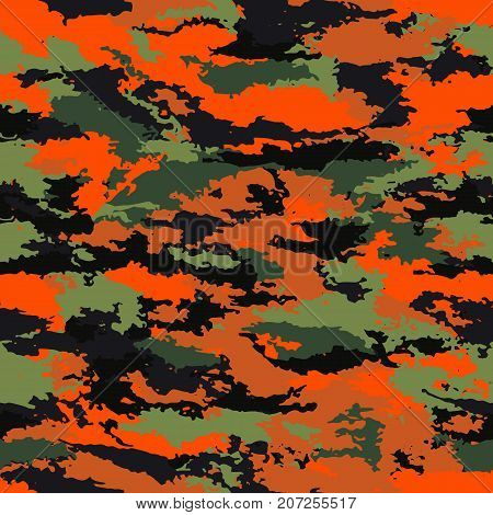 Camouflage military background. Camouflage bright background - vector illustration. Abstract pattern seamless
