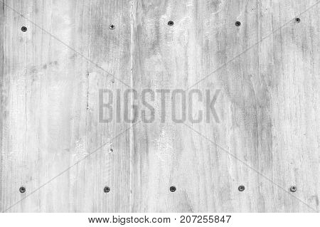 White soft wood surface with scew as background