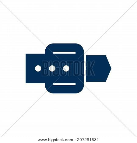 Vector Strap Element In Trendy Style.  Isolated Belt Icon Symbol On Clean Background.
