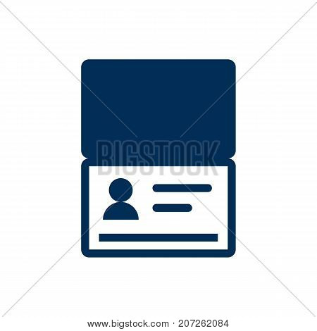 Vector Citizenship Element In Trendy Style.  Isolated Passport Icon Symbol On Clean Background.