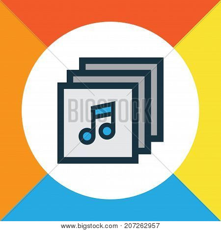 Premium Quality Isolated Music Element In Trendy Style.  Albums Colorful Outline Symbol.