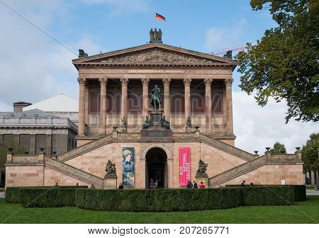 The Alte Nationalgalerie Museum ( Old National Gallery) At Museum Island In Berlin