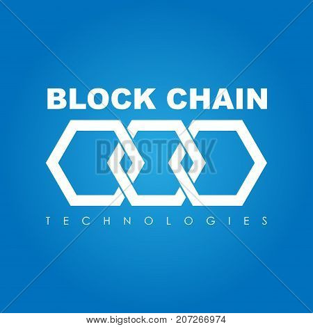 Business theme vector illustration of the block chain logo.
