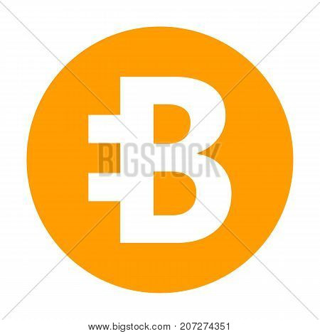 Bytecoin icon for internet money. Crypto currency symbol for using in web projects or mobile applications. Blockchain based secure cryptocurrency. Isolated vector sign.