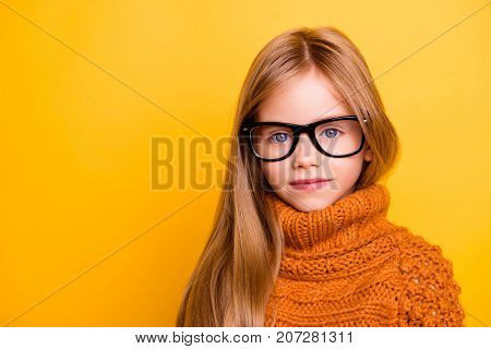 Health Care, Eyeball Check, Clear Vision, Youngsters Concept. Close Up Portrait Of Charming Blonde S