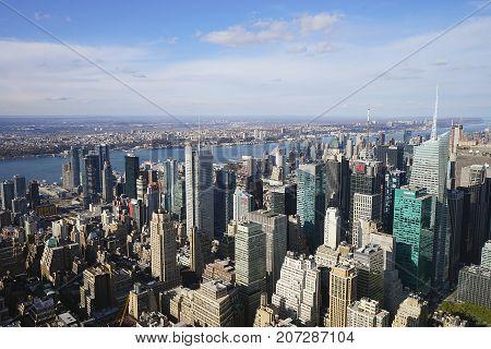 New York City Manhatten USA Skyline Sky .