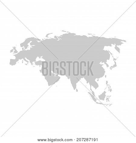 Eurasia continent. Gray vector template for your design and ideas.