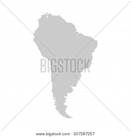 South america continent. Gray vector template for your design and ideas.