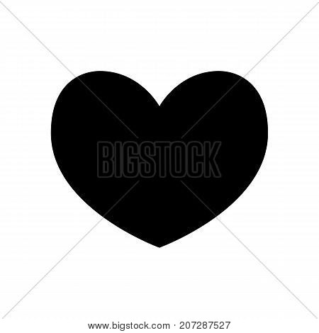 Heart icon. Black icon isolated on white background. Heart silhouette. Simple icon. Web site page and mobile app design element.