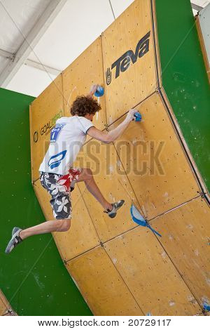 Bouldering world cup final during the 10th Teva Mountain Games