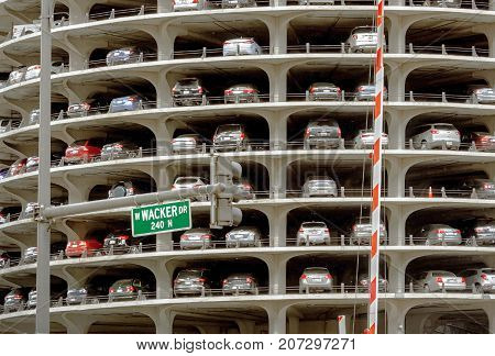 Marina City Tower Parking Deck In Chicago