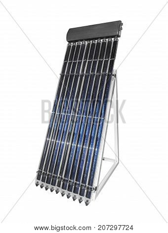 Solar battery isolated on a white background.