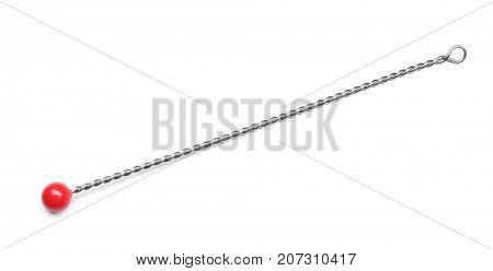 Instrument for speech therapist on white background