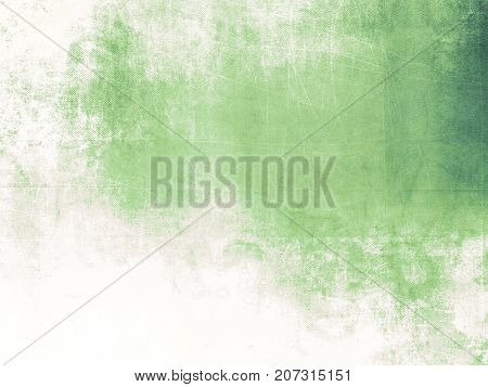 Grunge green background texture fading to white
