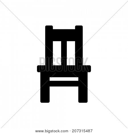 Black chair icon isolated on white