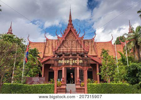 Phnom Penh, Cambodia - March 31, 2016: National Museum in Phnom Penh, Cambodia