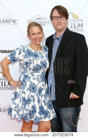 LOS ANGELES - SEP 30:  Leanne Bishop, Michael Mason at the Catalina Film Festival - September 30 2017 at the Casino on Catalina Island on September 30, 2017 in Avalon, CA