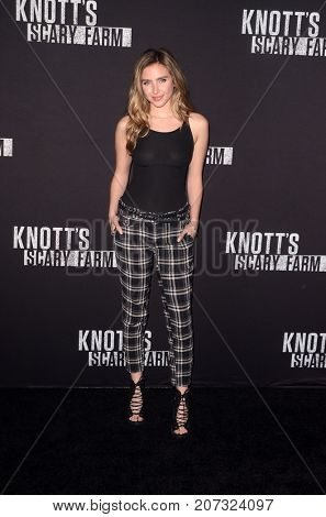LOS ANGELES - SEP 29:  Ryan Newman at the Knott's Scary Farm and Instagram Celebrity Night at the Knott's Berry Farm on September 29, 2017 in Buena Parks, CA