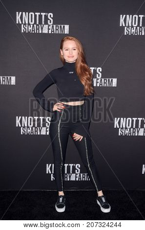 LOS ANGELES - SEP 29:  Madelaine Petsch at the Knott's Scary Farm and Instagram Celebrity Night at the Knott's Berry Farm on September 29, 2017 in Buena Parks, CA