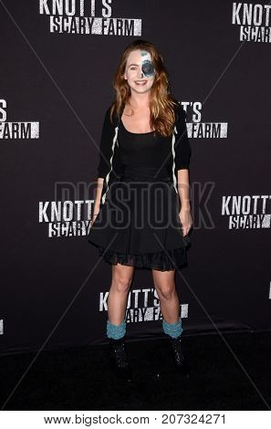 LOS ANGELES - SEP 29:  Britt Robertson at the Knott's Scary Farm and Instagram Celebrity Night at the Knott's Berry Farm on September 29, 2017 in Buena Parks, CA