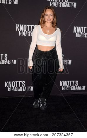 LOS ANGELES - SEP 29:  Rose Williams at the Knott's Scary Farm and Instagram Celebrity Night at the Knott's Berry Farm on September 29, 2017 in Buena Parks, CA