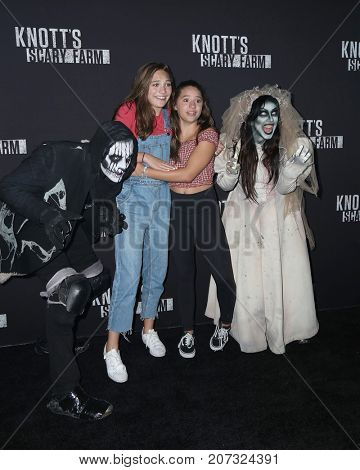 LOS ANGELES - SEP 29:  Maddie Ziegler, Mackenzie Ziegler at the Knott's Scary Farm and Instagram Celebrity Night at the Knott's Berry Farm on September 29, 2017 in Buena Parks, CA