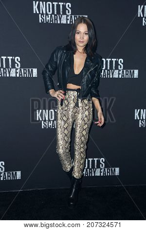 LOS ANGELES - SEP 29:  Kelli Berglund at the Knott's Scary Farm and Instagram Celebrity Night at the Knott's Berry Farm on September 29, 2017 in Buena Parks, CA