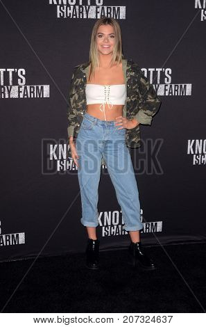 LOS ANGELES - SEP 29:  Griffin Arnlund at the Knott's Scary Farm and Instagram Celebrity Night at the Knott's Berry Farm on September 29, 2017 in Buena Parks, CA