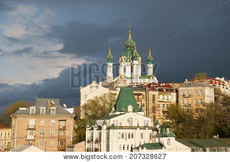 Church of St. Andrew in  the city of Kiev.Ukraina