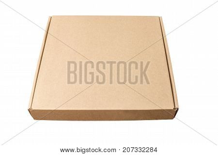 Cardboard boxes on white background. Isolated. Corrugated cardboard