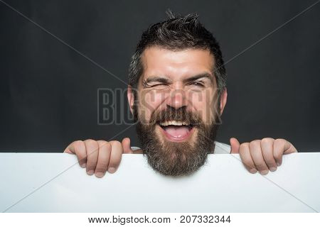 Guy On Grey Background.