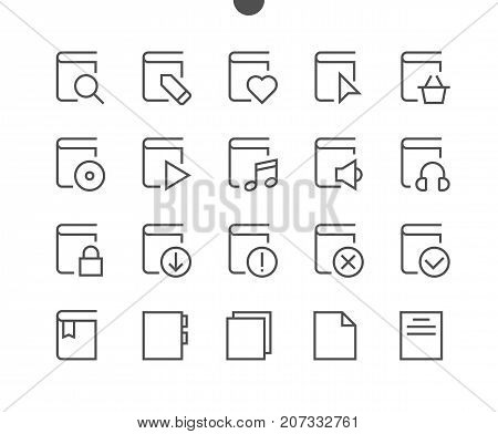 Reading View Outlined Pixel Perfect Well-crafted Vector Thin Line Icons 48x48 Ready for 24x24 Grid for Web Graphics and Apps with Editable Stroke. Simple Minimal Pictogram Part 2-3