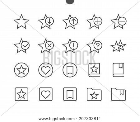 Bookmarks Tags UI Pixel Perfect Well-crafted Vector Thin Line Icons 48x48 Ready for 24x24 Grid for Web Graphics and Apps with Editable Stroke. Simple Minimal Pictogram Part 2-3