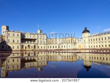 Russia suburb of St. Petersburg. Great Gatchina Palace (1766