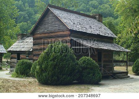 Smokey Mountain National Park Pioneer Log Cabin