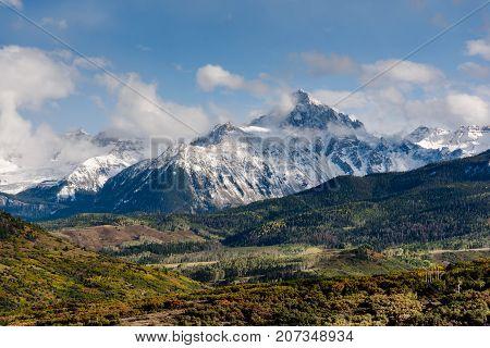 Mt. Sneffels and the San Juan Range - Colorado Rocky Mountain Scenic Beauty