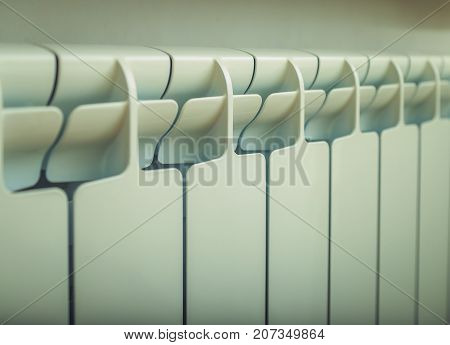 hot water pipe and radiator close up