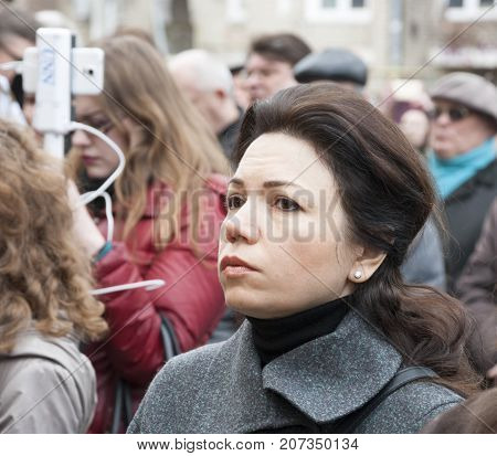KIEV (KYIV) UKRAINE -March 22 2016:Ukrainian politician Victoria Syumar