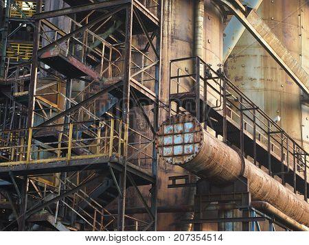 Ostrava - industrial area Vitkovice (blast furnace)